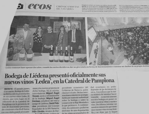 """Bodega de Liédena presentó  sus  vinos """"Ledea"""""""